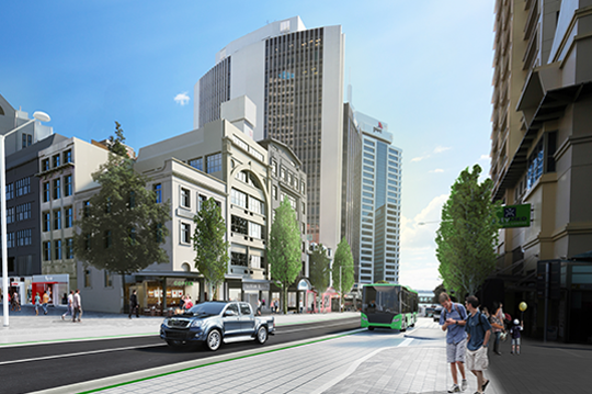 Artist impression of new Albert Street Buslanes (2)