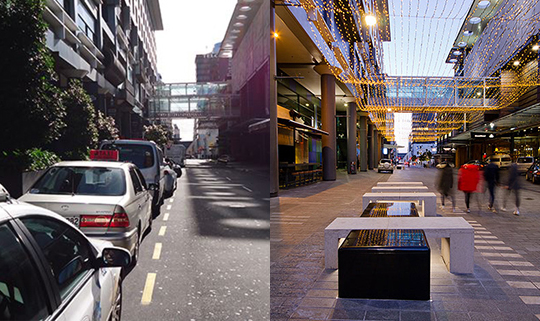 Federal Street, Auckland CBD Before & After