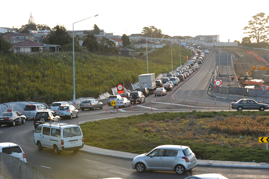 Rush hour congestion in Auckland...
