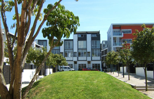 An example of communal open space (Freemans Bay, Auckland)
