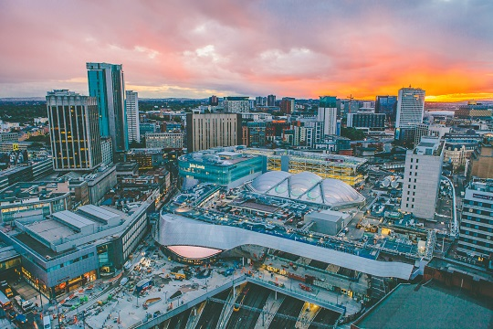 Birmingham is one of several UK cities integrating the arts into urban regeneration (Source: The Independent)