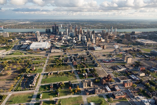 Detroit, the former 'Motor City', is looking to get people out of their cars and onto the pavements