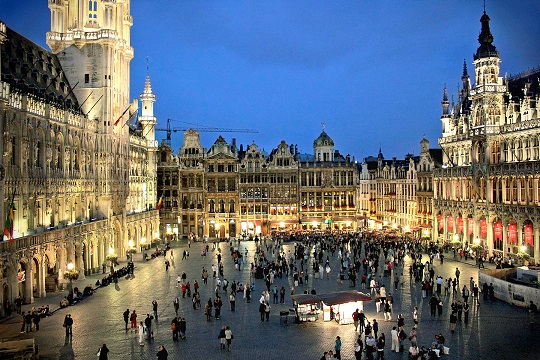 The Grand Place in Brussels is of an appropriate scale, and is surrounded by the required uses, that attract people to spend time in the square