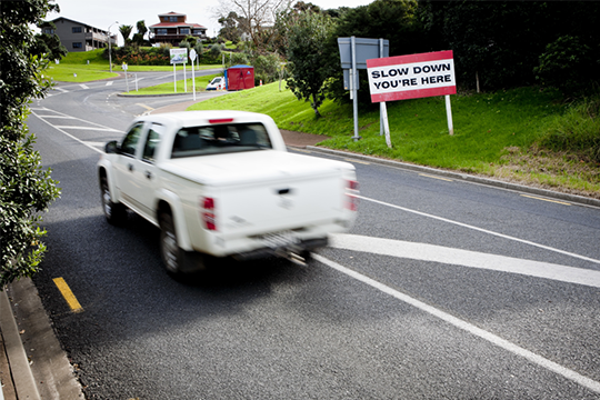 Many of Auckland's roads are designed to be safely driven 10 km/h above the speed limit.