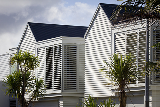 Louvres are an effective means of minimising solar gain during the summer months.