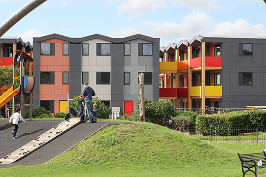 The Y:Cube, also designed by RSH+P, provides housing for individuals in need (Source: RSH+P)